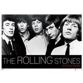 Poster encadré: Rolling Stones - Out Of Our Heads (61x91 cm), Cadre Plastique, Or