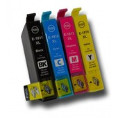 Multipack Compatible Epson 18xl (C13t18164010) - Noir, Cyan, Magenta, Jaune - G�n�rique - 31.3 Ml