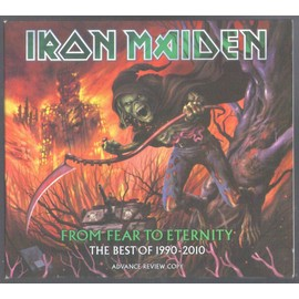 IRON MAIDEN FROM FEAR TO ETERNITYTHE BEST OF 1990/2010 ADVANCE REVIEW COPY TRES RARE