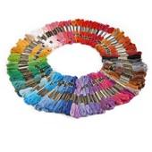 100 �chevettes Fils � Broder Pour Broderie Point De Croix Bracelet Br�silien Multicolore