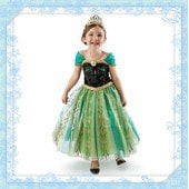 Robe Verte Princesse Anna Frozen Reine Des Neiges Costume Enfant Anniversaire Spectacle F�te Carnaval Mardi Gras Du 2 Au 12 Ans Cosplay D�guisement Envoi Rapide