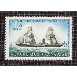 FRANCE N° 1446 neuf sans charnière de 1965 - 25c+10c « Paquebot-poste « La Guienne » (journée du timbre) »