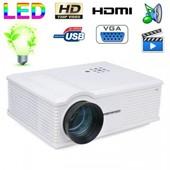 Vid�oprojecteur LED 170W 3000 Lumens Full HD 1080P Home cinema Blanc