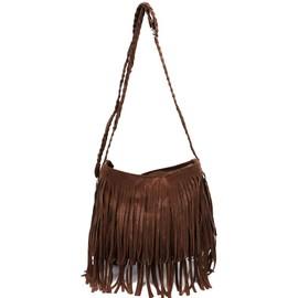 Anladia Sac A Epaule Bandouliere A Franges Hobo Tote Loisir Tassel Bag 6 Couleurs Pr Femme Fille