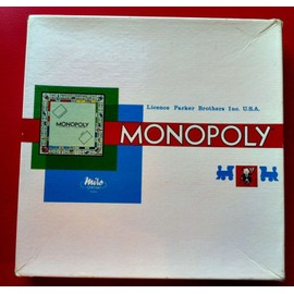 Monopoly Licence Parker Brothers Inc U.S.A Miro Compagny