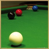 Poster Reproduction Encadr�: Billard - Snooker, Stiuation Free Ball (40x40 Cm), Cadre Plastique, Or
