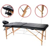 Table De Massage Transportable Noire - Table De Massage Pliable