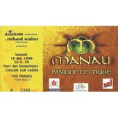 Ticket Concert Manau Du 15 Mai 1999 � Chalon Sur Sa�ne