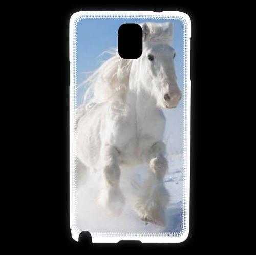 Coque Samsung Galaxy Note 3 Cheval blanc dans la neige 2