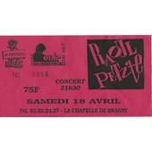 Ticket Du Concert De Raoule Petite Du 18 Avril � La Chapelle De Braghy