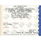 Ticket Du Concert De Paul Personne Du 10 Mars 1997 � Dijon