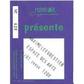 Ticket Du Concert De Maxime Leforestier Du 21 Janvier � Chalon Sur Sa�ne