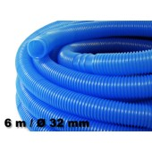 6m - 32mm - Tuyau De Piscine Flottant Sections Double Manchon 165g/M - Made In Europe