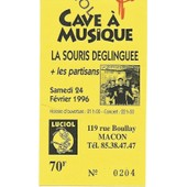Ticket Du Concert De La Souris D�glingu�e Du 24 Fevrier 1996 � Macon