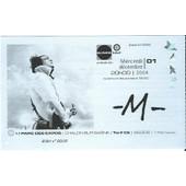 Ticket Du Concert De M Du 01 D�cembre 2004 � Chalon Sur Sa�ne