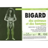 Ticket Du Spectacle De Bigard Du 18 Fevrier 2004 � Chalon Sur Sa�ne