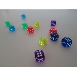 12 D�s A Jouer Transparents 6 Couleurs
