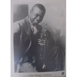 "poster louis ""satchmo"" armstrong - louis armstrong foundation ""remember satchmo"""