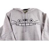Sweat Totoro Sweat Haut Veste Capuche Gris