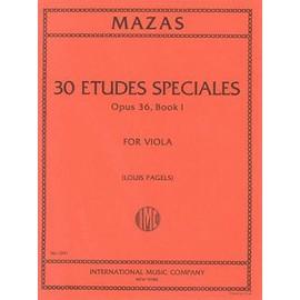30 études spéciales opus 36 book 1 for viola