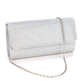 Sac Main/Epaule Pochette Satin Glitter Mariage Soir�e Sacoche Femme Bag Chaine 3 Couleurs