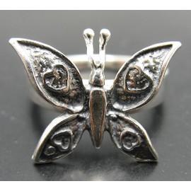 R001025 Bague En Argent 925 Papillon