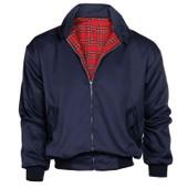 Manteau Jacket Harrington Bomber Veste Sweat Homme Pardessus Blouson Coat Motard Noir/Bleu 4 Taille