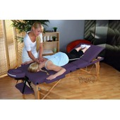 Table De Massage Pro Luxe, Pliante Confort, 3 Zones, Lilas