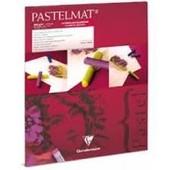 Bloc Pastelmat 12feuilles, 24x30cm,Blanc - Clairefontaine