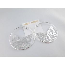 Boucles D'oreilles Cr�oles Papillons.