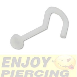 Piercing Nez Invisible Transparent Retainer Ptfe Dome