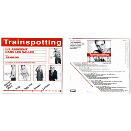 TRAINSPOTTING CD FRENCH COLLECTOR 5 TRACKS DAMON ALBARN PULP IGGY POP SLEEPER LEFTFIELD TRES RARE