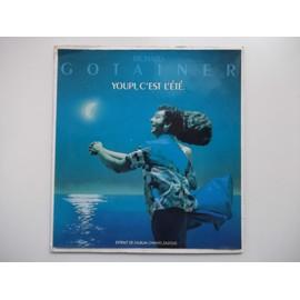 PLV PRESENTOIR du disque YOUPI, C'EST L'ETE de RICHARD GOTAINER (chevalet carton épais format 45T)