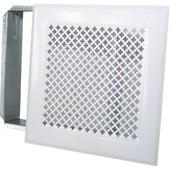 Grille De Chemin�e Avec Pr�cadre Dmo - Blanc - Dimensions 170 X 170 Mm