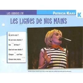 fiche chanson atlas PATRICIA KAAS : les lignes de nos mains