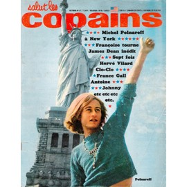 Salut Les Copains N� 51 Du 01/10/1966 - Michel Polnareff - F. Hardy - James Dean - Herve Vilard - Claude Francois - France Gall - Johnny.