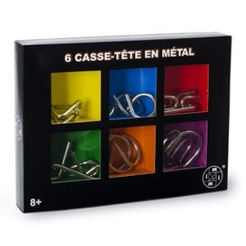 Casse-T�te En M�tal : 6 Casse-T�te