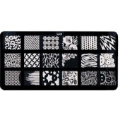 Plaque Stamping Nail Art Comprenant 18 Motifs Diff�rents - To 43