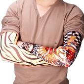 6x Bras Manche Manchette Temporaire Faux Tattoo Tatouage Dessins Motif Sleeve 40-55cm Elastique Costume D�guisement