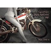 Calendrier Moto Trial Pin Up Vintage 2015