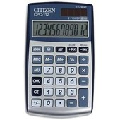 Citizen Calculatrice De Poche Cpc112 Gris