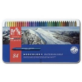 Caran D'ache Bo�te M�tal 84 Pastels � La Cire Aquarellables Neocolor Ii