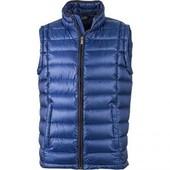 Gilet Sans Manches Matelass� Duvet Homme - Jn1080 Bleu - Doudoune Anorak