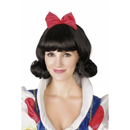 Perruque Carre Style Blanche Neige