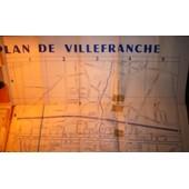 Plan De Villefranche Sur Saone (Rhone) 1959 de x