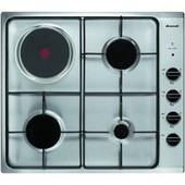 Brandt TE1417X - Table de cuisson gaz et �lectrique