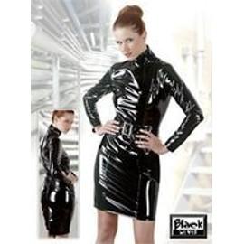 Robe Noire Brillante En Vinyle - Vinyle Et Latex Bdsm