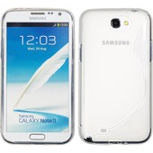 Coque En Silicone Pour Samsung Galaxy Note 2 - S-Style Transparent