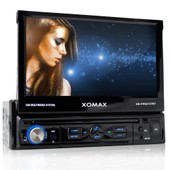 Autoradio 1din Bluetooth Moniceiver Xomax Xm-Vrsu727bt / 18cm Touchscreen Monitor + 16:9 + Bluetooth + Mp3 + Usb + Sd + Hdd + Subwoofer +