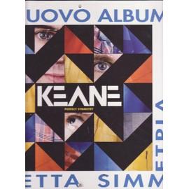 KEANE plv suspendue en carton pour disquaires Perfect Symmetry ITALY ONLY !!! 30x30 cm